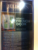 Brand new double exterior french doors by Jeldwen
