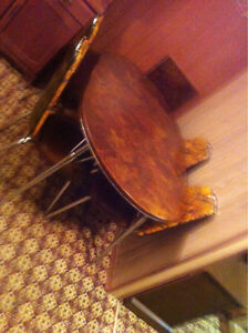 Antique Kitchen table w/sleave and chairs