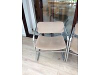 Vintage retro 1960's steel cantilever chair