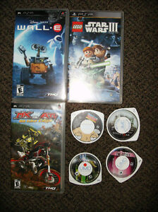 Gently Used Sony PSP Games & Movies(good working condition)
