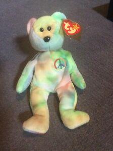 Peace beanie baby collectable doll/teddy