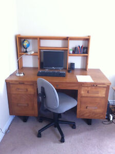 Oka Wood Desk and Chair