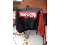 100% genuine real leather Ducati jacket