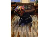 Bugaboo bee plus 2 all black with missoni hood and rain cover