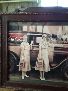 Framed 1929 A Coca Cola Deluxe Delivery Photo reproduction