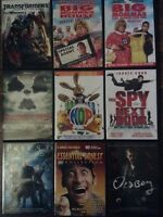 Dvds and blu Ray movies for sale $10 each or $30 for 5