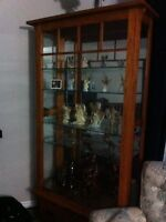 Display cabinet hard wood
