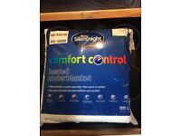 Brand New Silentnight Comfort Control Double Heated Underblanket