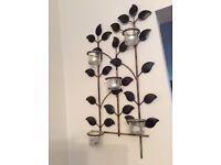 leaf design metal wall sconce candle holder