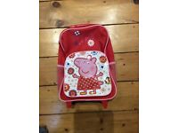 Peppa pig suitcase/wheel along bag