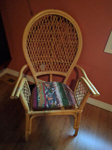 Bamboo chair, one piece only-Free