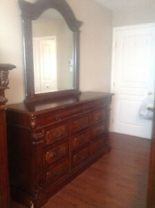 BeautifulnTwobTone Solid wood dresser with mirror