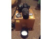 D90 camera flash and lenses