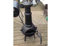 New Sierra cast iron chimenea H125cm Cracked