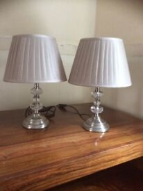 Champagne crystal effect lamps x 2