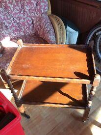 Vintage trolley table