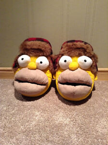 """Homer Simpson """"Mr. plow"""" slippers --size Large (11-12)"""