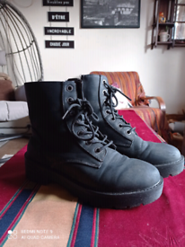 Black lace up boots size 7