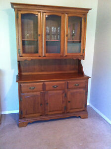 Buffet Table and Hutch