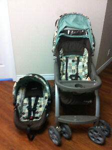 Almost new Stroller and Car seat