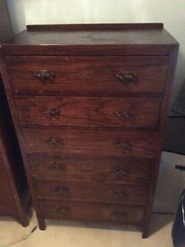 Vintage old 6 drawer unit Ideal for upcycling