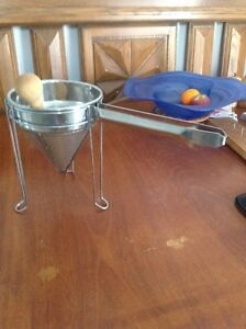 3-piece stainless steel china cap strainer