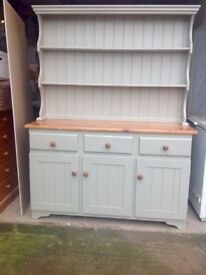WELSH DRESSER - solid pine. Newly refurbished to a high standard