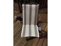 Garden chair seat pads X4