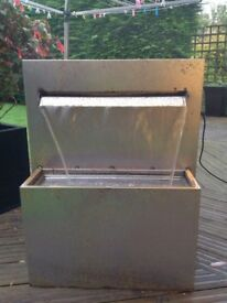 Corten steel blade water feature