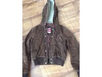 Women's vintage Brown leather/suede jacket
