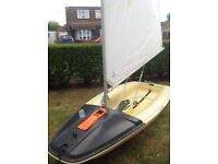 Rare French topper Tabur 320 sailing dinghy