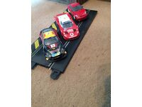 Scalextric model cars and track