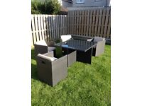 Garden Furniture, Table & 4 Chairs