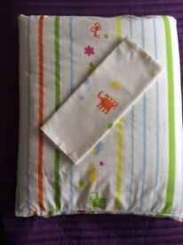 Ikea cotbed quilt/cover/pillowcase. New