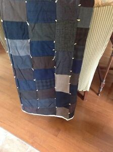 Vintage quilt made from men's suit. CHECK OUT MY OTHER ADS  Belleville Belleville Area image 4