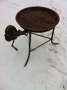 blacksmith coal forge with blower.