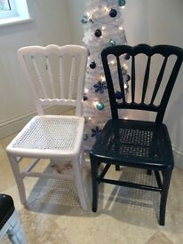 Vintage painted chairs farrow & ball with glitter varnish £20 each