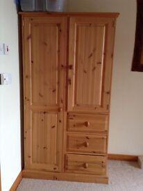 Small Wardrobe with draws & shelves