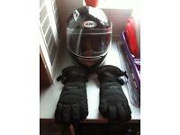 Helmet and gloves like new BARGAIN