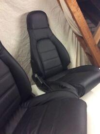 Mazda mx5 mk1 Black leather seats