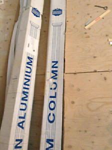 Two Brand New Square Colonial Elegance Alluminun Columns