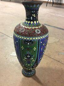 Lovely meji period japanese cloisonné vase (good condition) no damage £150