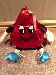 Pair of Hershey's Kiss stuffed toys (one silver one red) Kitchener / Waterloo Kitchener Area image 2
