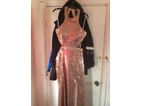 Rose gold prom dress size 14