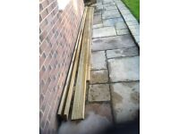 Decking timber boards