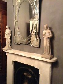 Vintage antique gothic pair statues