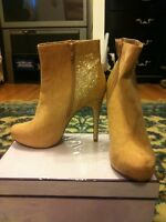 Gold ankle boots for sale