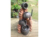 Regal 4 tier oil jar water feature with lights H119cm