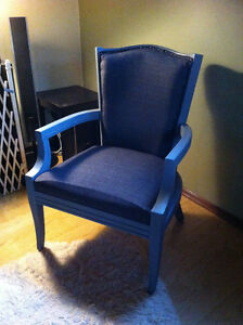 refninished accent chair