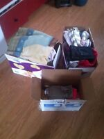 3 box full baby supplies and clothes 12 months up
